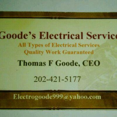 Avatar for Goode's Electrical Service Washington, DC Thumbtack