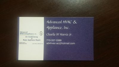 Avatar for Advanced HVAC & Appliance Inc.