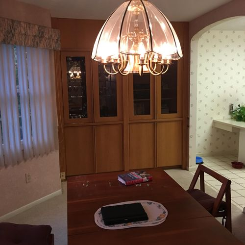 Rocky  River Dinning Room Before