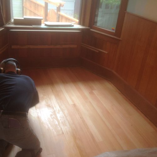 After framing and flooring install