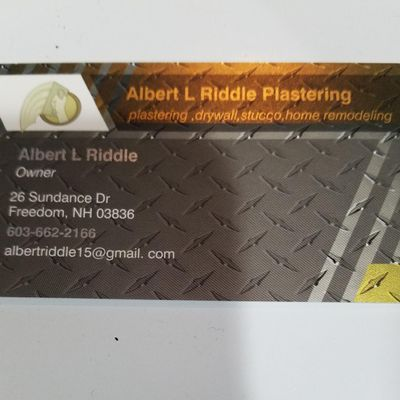 Avatar for Albert L Riddle Plastering and drywall Freedom, NH Thumbtack