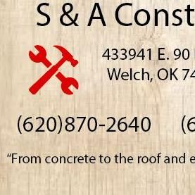 Avatar for S&A Construction Welch, OK Thumbtack