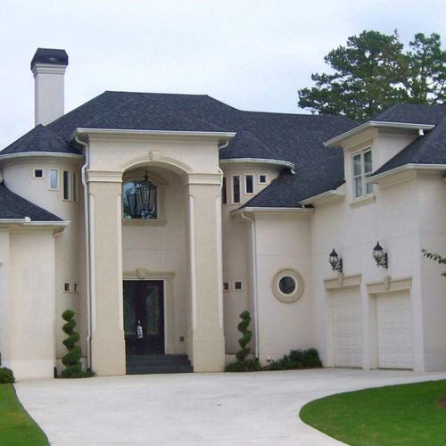 All stucco home done from scratch