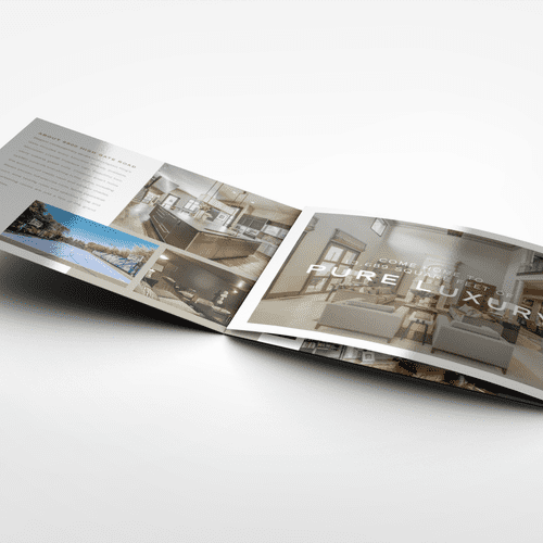 8.5 x 33 Tri-Fold Brochure for a Luxury Home in Dallas, TX  Final Size: 8.5 x 11 Paper: Cover Mohawk Options Vellum