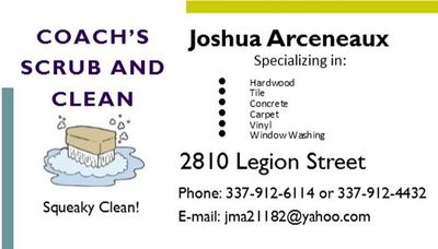 Avatar for COACH'S SCRUB AND CLEAN Lake Charles, LA Thumbtack