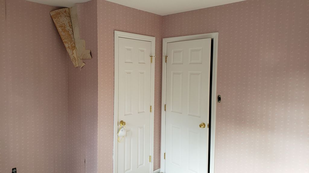 Wallpaper Removal, Prime, and Skim Coat