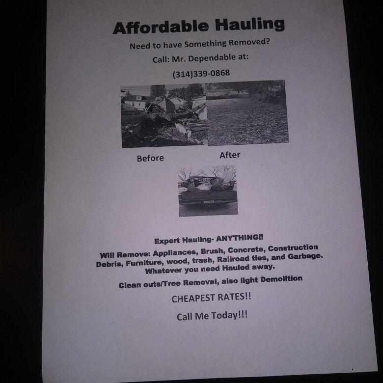 MR. DEPENDABLE HAULING & DEMOLITION SERVICES