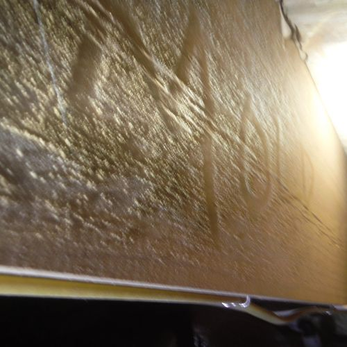Before - White mold growing on floor joists in crawl space