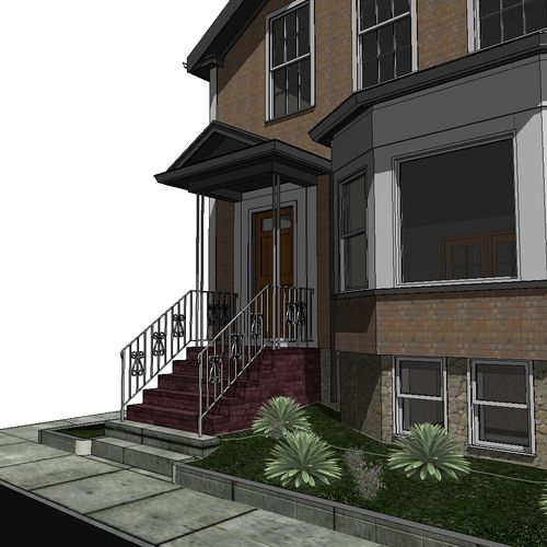 Plans needed for Permit to Renovate Existing Porch in New Bedford, MA.