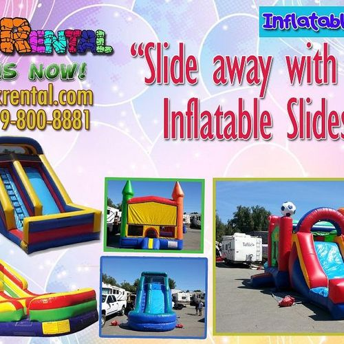 Want to entertain your guests?! Rent our Inflatable Slides!