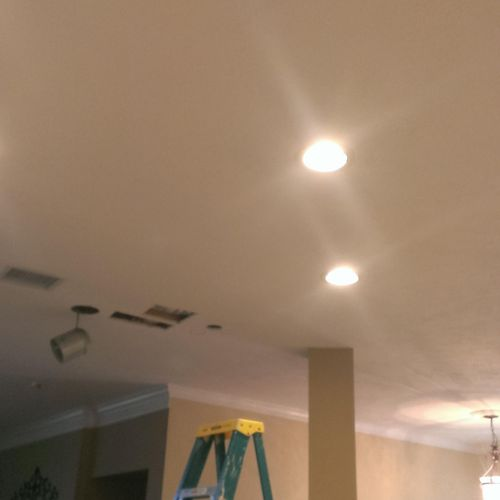 Recessed can lights installed in kitchen!