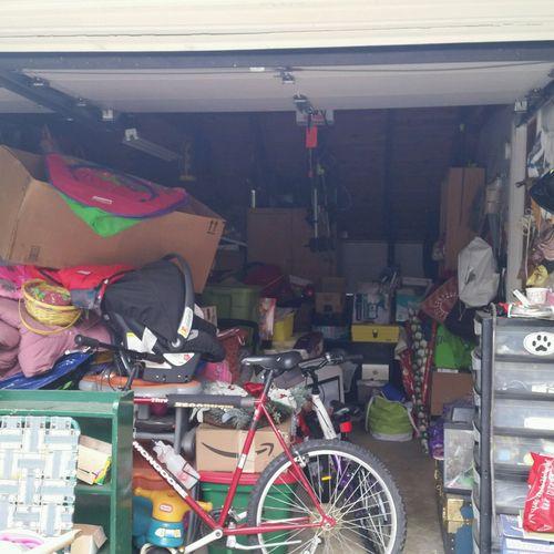 Garage Organizing Before