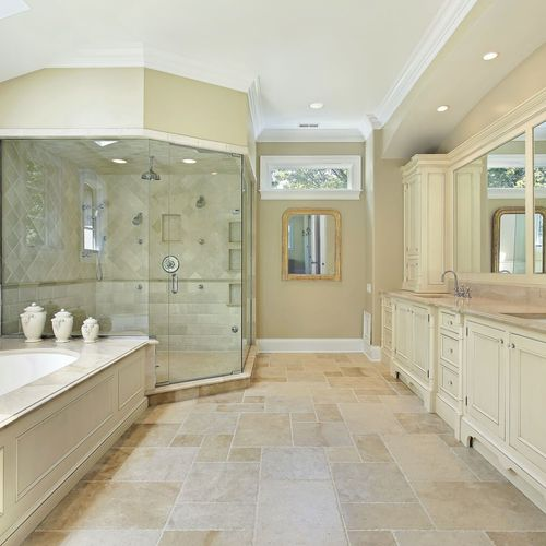 Elegant Twin Master Bathroom