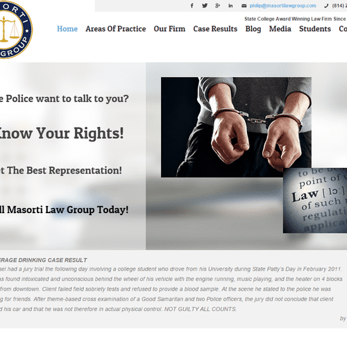 Screen capture of a law website we built that dramatically increased their income.