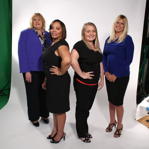 The excellent staff in the office - on site photo shoot.