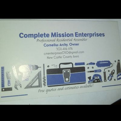 Avatar for Complete Mission Enterprise Wilmington, DE Thumbtack