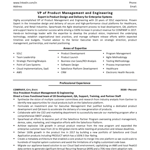 Executive IT Resume