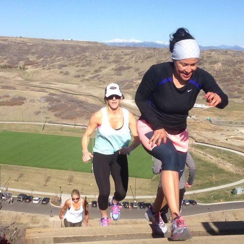 Climbing Challenge Hill with a few clients in Castle Rock