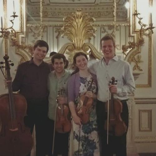 With my string quartet, after performing Beethoven at the Victoria & Albert Museum, London