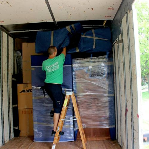 Each and every item is padded and protected before leaving the home and stays this way while being loaded and delivered into your new home.