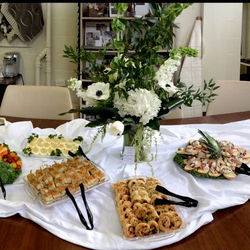 Small catered spread