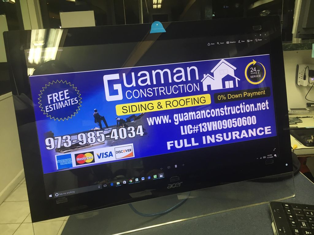 Guaman Construcción LLC Roofing And siding