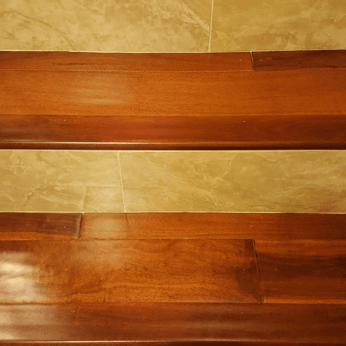 Wood and Marble Staircase - San Antonio, TX