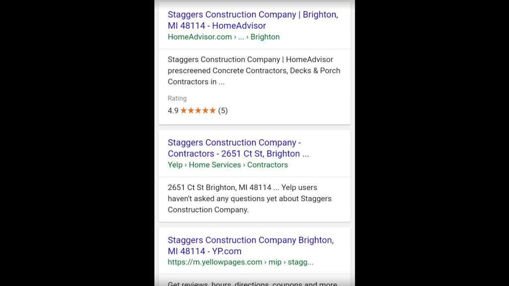 Staggers construction