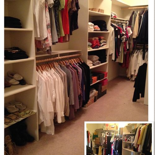 Master Closet - before & after purging