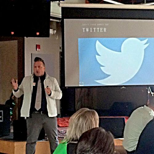 I speak frequently for seminars and workshops about social media marketing.