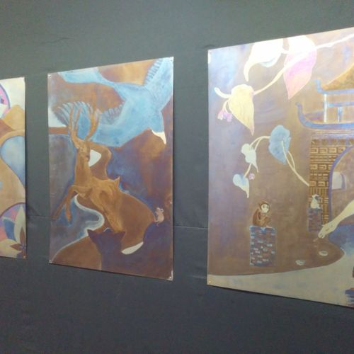 Titanium electricity paintings at ArtPrize 2014