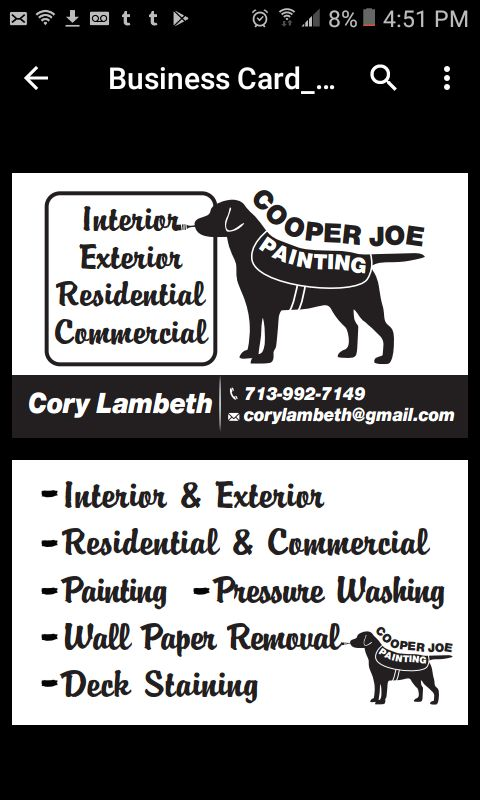 Cooper Joe Painting