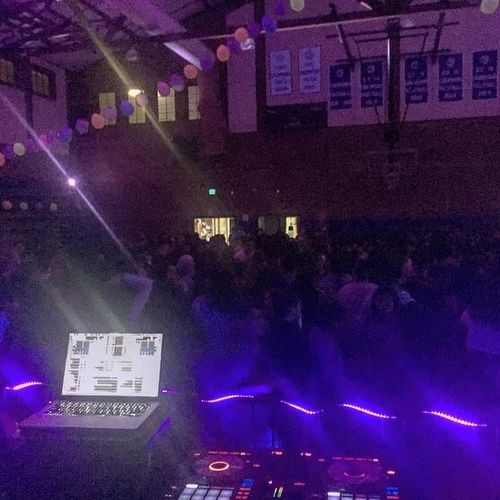Spinning for Cathederal High School's Dance for 500+ students in their Gymnasium