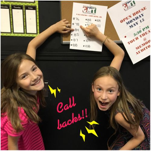 Reyna & Emelie Getting callbacks at an audition!