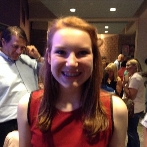 """Student Harper, age 14, after performing in """" High School Musical"""" at The Orlando Repertory Theatre/Youth Academy"""