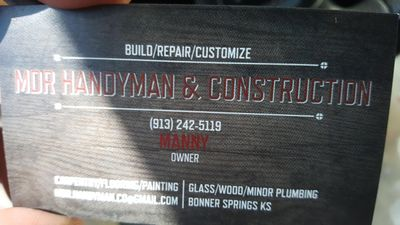 MDR Handyman & Construction Bonner Springs, KS Thumbtack