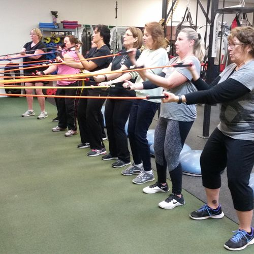 Members enjoying functional Fitness & Wellness Boot Camp!
