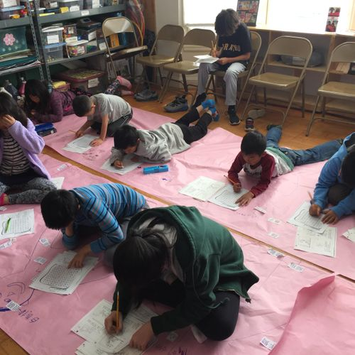 Class activity with young learners