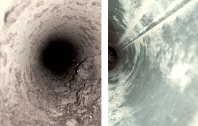 Blue Springs dryer vent before and after
