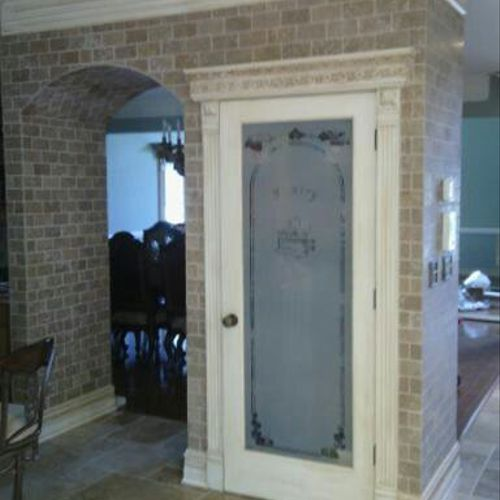 brick and door and framing interior by statewide