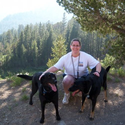 Hiking a few years ago with my babies