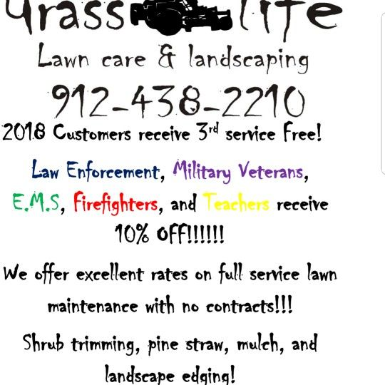 Grass Life Lawn Care And Landscaping llc