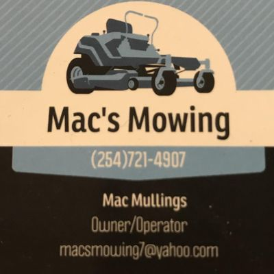 Avatar for Mac's Mowing Temple, TX Thumbtack
