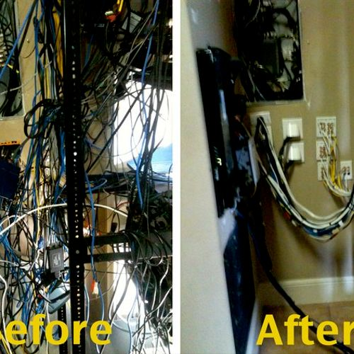 Rats nest before and after.......