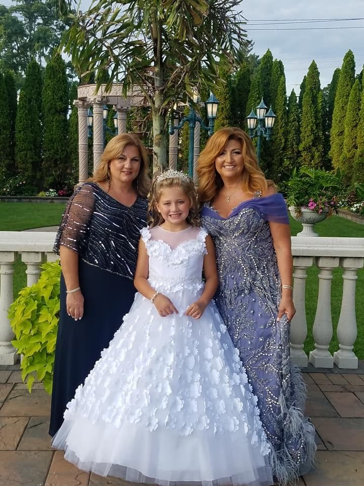Mother of the Bride formal gown and bridesmaids