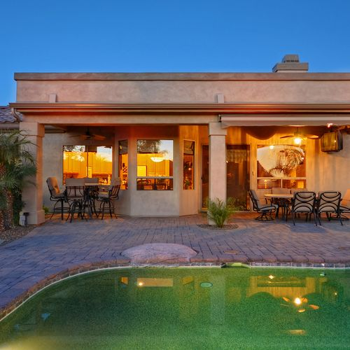 Exterior Painting in Phoenix, AZ - view from the backyard