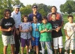 Potawatomi youth are all smiles after a group lesson with Steve