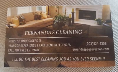 Avatar for Fernanda's cleaning Danbury, CT Thumbtack