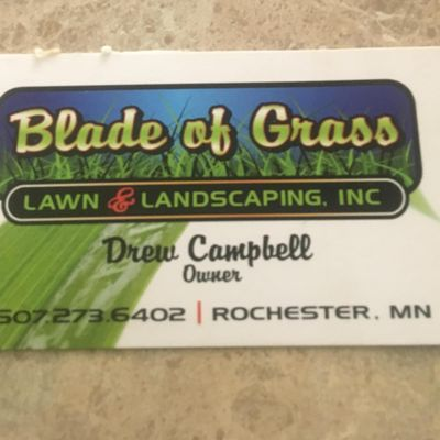 Avatar for Blade of Grass Lawn and Landscaping Inc