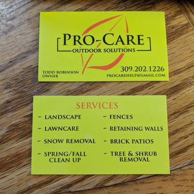 Avatar for PRO-CARE  (Outdoor Solutions)